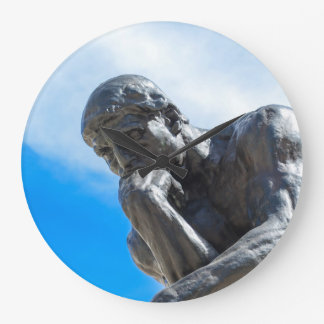 Rodin Thinker Statue Large Clock