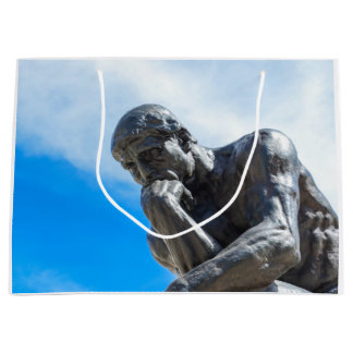 Rodin Thinker Statue Large Gift Bag