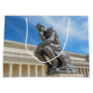 Rodin Thinker Statue Large Gift Bag
