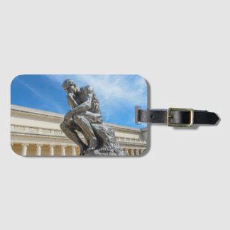 Rodin Thinker Statue Luggage Tag