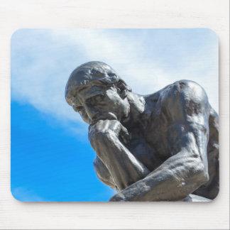 Rodin Thinker Statue Mouse Pad