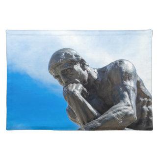Rodin Thinker Statue Placemat
