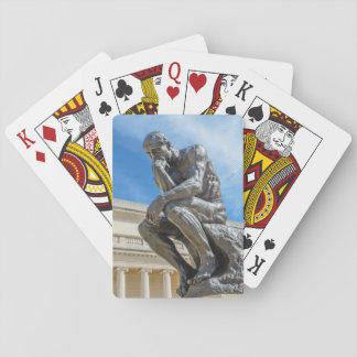 Rodin Thinker Statue Poker Deck