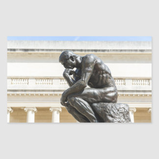 Rodin Thinker Statue Rectangular Sticker