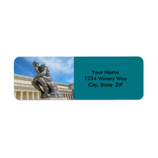Rodin Thinker Statue Return Address Label