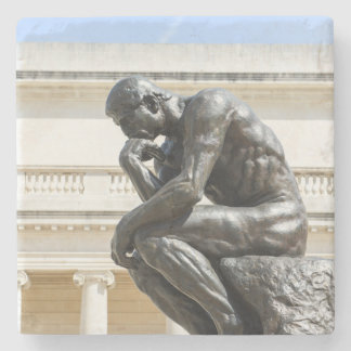 Rodin Thinker Statue Stone Coaster