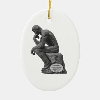 Rodin's Thinker - So Many Ancestors Ceramic Ornament