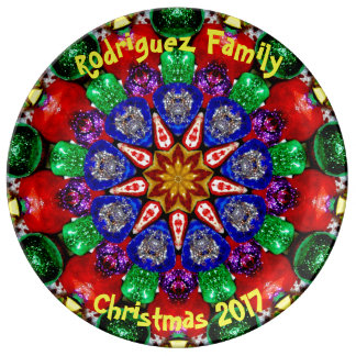 RODRIGUEZ FAMILY ~ Personalized Christmas Fractal Plate