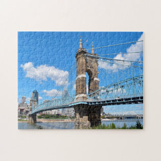 Roebling Suspension Bridge Ohio. Jigsaw Puzzle