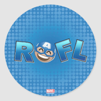 ROFL Captain America Emoji Classic Round Sticker