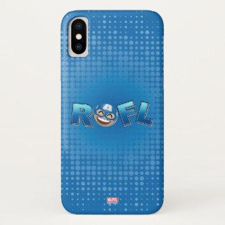 ROFL Captain America Emoji iPhone X Case