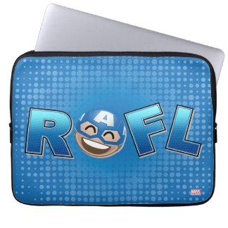 ROFL Captain America Emoji Laptop Sleeve