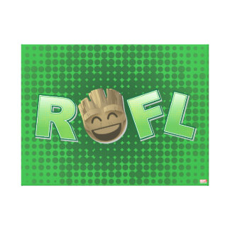 ROFL Groot Emoji Canvas Print