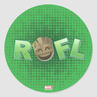 ROFL Groot Emoji Classic Round Sticker