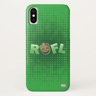 ROFL Groot Emoji iPhone X Case