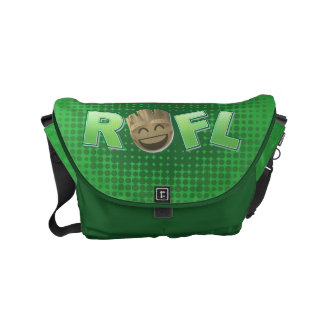 ROFL Groot Emoji Messenger Bags