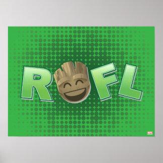 ROFL Groot Emoji Poster