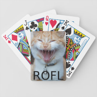 ROFL Laughing Kitty Cat Bicycle Playing Cards