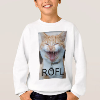 ROFL Laughing Kitty Cat Sweatshirt