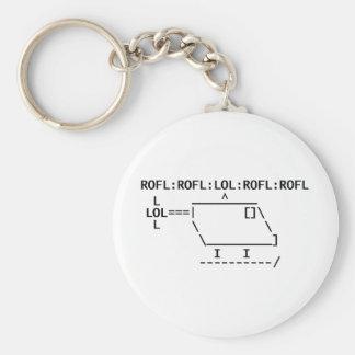 ROFLcopter Basic Round Button Key Ring