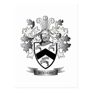 Rogers Coat of Arms Postcard