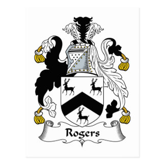 Rogers Family Crest Postcard