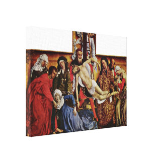 Rogier van der Weyden - Descent from the Cross Canvas Print