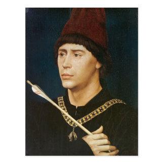 Rogier Weyden- Portrait of Antoine Postcard