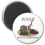Rogue: Watch Your Back Fridge Magnets