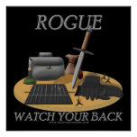 Rogue: Watch Your Back Print