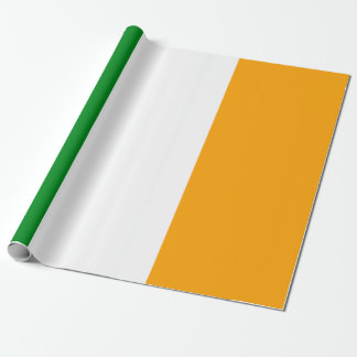 ROI Irish Tricolor Flag Wrapping Paper