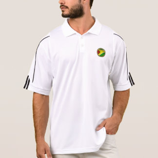 RokCloneDesigns Guyana Flag with Golf Ball Imprint Polo Shirt