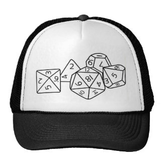 Role playing dice trucker hat