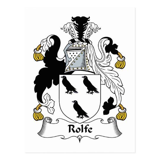 Rolfe Family Crest Postcard