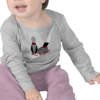 Roll In Style - Funny Bowling Shirts for Babies
