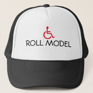 Roll Model Wheelchair Handicapped Trucker Hat