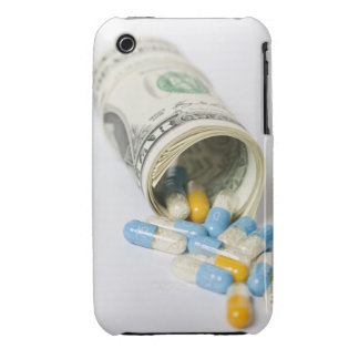Roll of Dollar notes and capsules iPhone 3 Cases