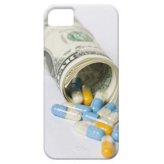 Roll of Dollar notes and capsules iPhone 5 Cases
