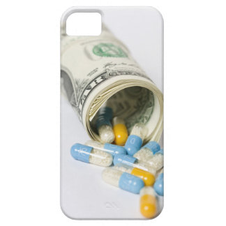 Roll of Dollar notes and capsules iPhone 5 Cover
