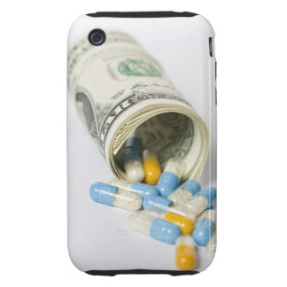 Roll of Dollar notes and capsules Tough iPhone 3 Case