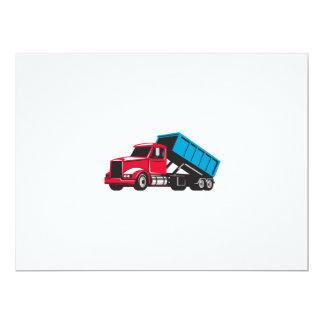 Roll-Off Truck Side Up Retro 17 Cm X 22 Cm Invitation Card