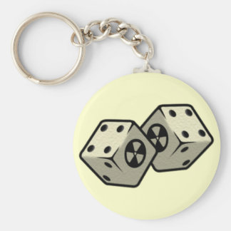 Roll the Dice Basic Round Button Key Ring