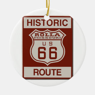 Rolla Route 66 Ceramic Ornament