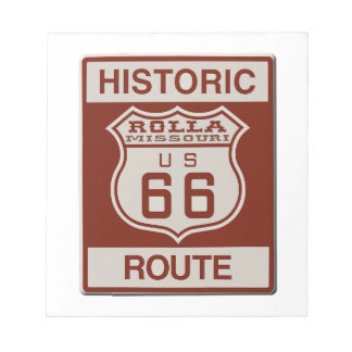 Rolla Route 66 Notepad