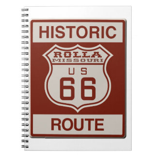 Rolla Route 66 Spiral Notebook