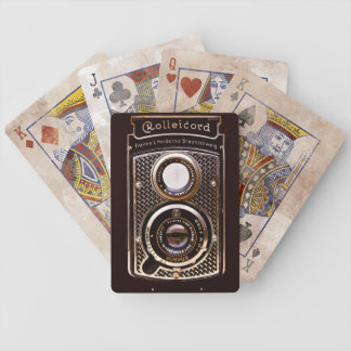 Rolleicord art deco camera bicycle playing cards