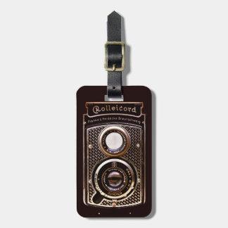 Rolleicord art deco camera luggage tag