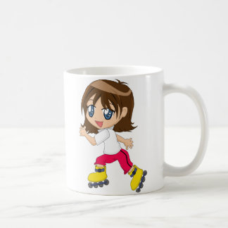 Roller-blading Girl Mug