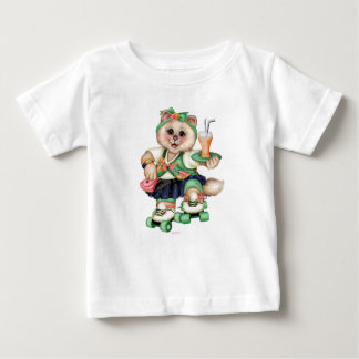 ROLLER CAT CUTE Baby Fine Jersey T-Shirt