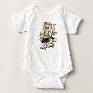 ROLLER CAT CUTE  Baby Jersey Bodysuit